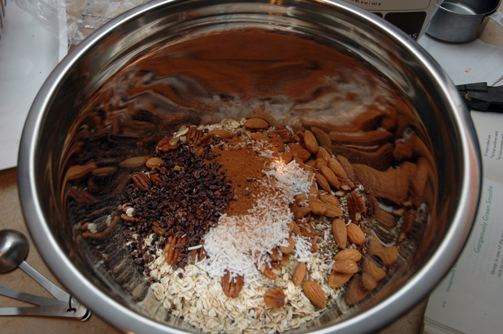 I added some raw cacao nibs here, wouldn't recommend the addition to all.