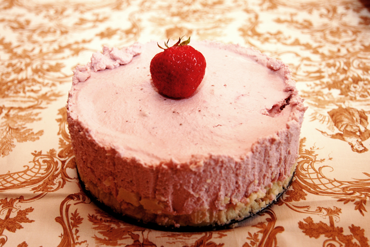 "Gluten-free/Dairy-free/Wheat-free/Vegan Strawberry ""Cheese""cake?  That's just NUTS!"