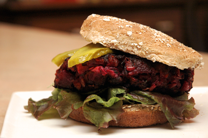 I dare to produce the perfect healthy burger for the end of the summer produce season.