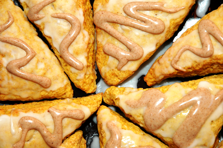 Make friends with pumpkin scones.