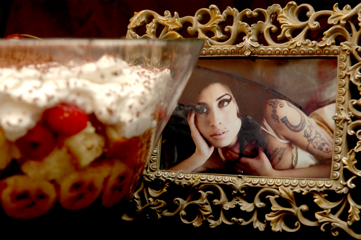 The Winehouse Trifle.  We only said goodbye with words, we'll scoop a hundred times.