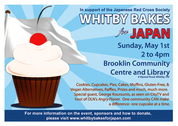 Whitby Bakes for Japan flier.