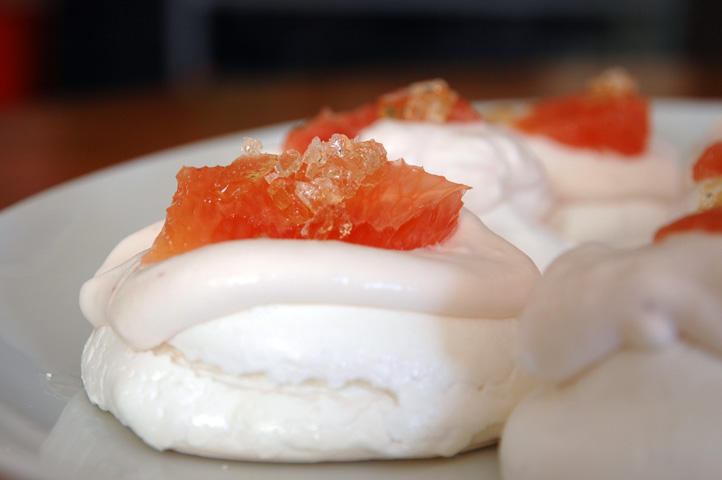 Grapefruit Pavlovas