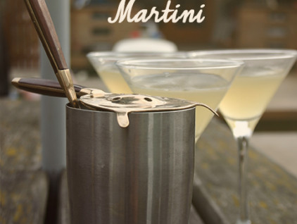 Elderflower-martinis