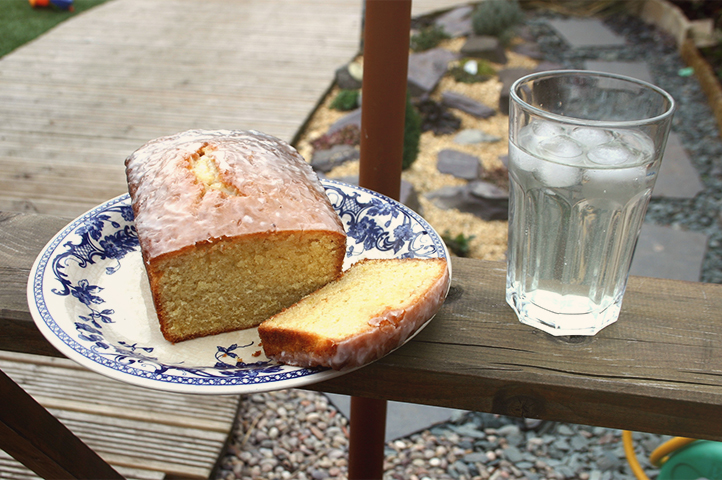 Just add sunshine. Lime and elderflower cake served with a refreshing glass of elderflower cordial on ice.