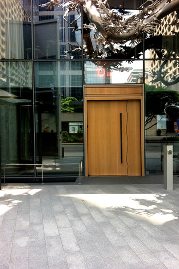 The secret door, hidden among the hustle and bustle of Toronto's business district.