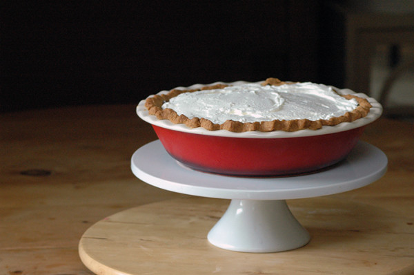 As tempting as it is, don't dive in just yet. Put your pie in the fridge for at least three hours.