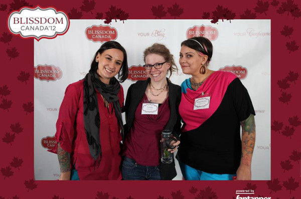 At last year's Blissdom Canada conference with Tamara (@tea4tamara)(center) and Karen (@thatmomtweets) (right)